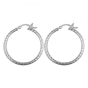 Sterling Silver 30mm Creole Hoop Earrings