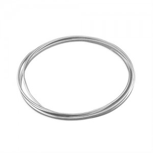 Sterling Silver Triple Russian Slave Bangle