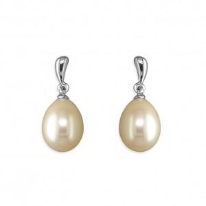 Sterling Silver Freshwater Pearl Drop Earrings