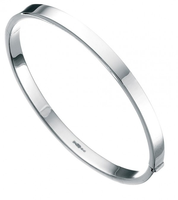 Sterling Silver Square Cut 5mm Bangle