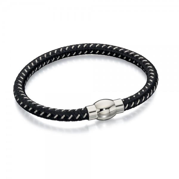 Fred Bennett Men's Stainless Steel Nylon Bracelet