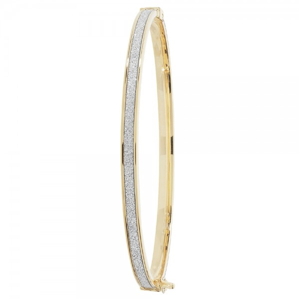 9ct Yellow Gold Sparkle Bangle