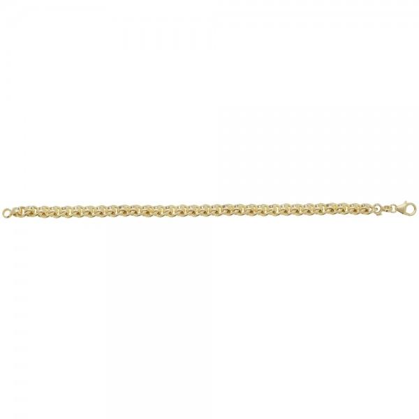 9ct Yellow Gold Roller Ball Bracelet