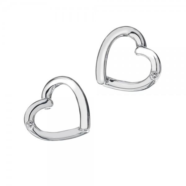Hot Diamonds Just Add Love Stud Earrings