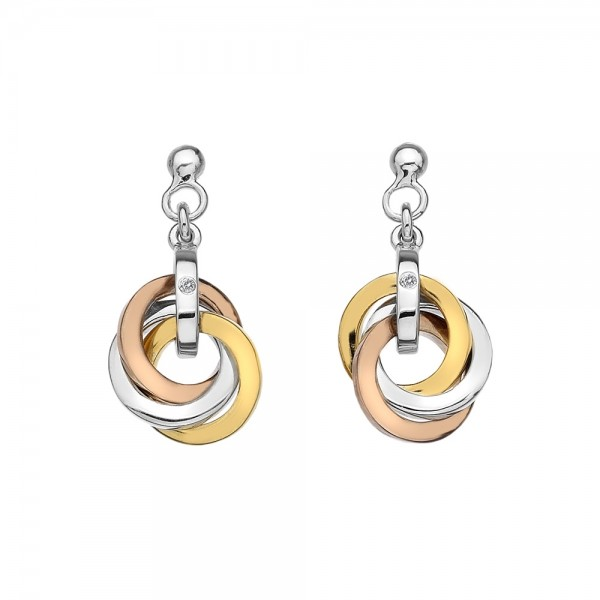 Hot Diamonds Trio Drop Earrings