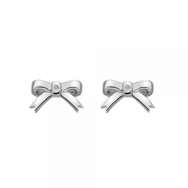 Hot Diamonds Ribbon Stud Earrings
