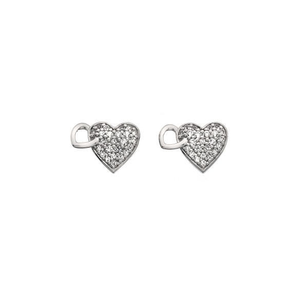 Hot Diamonds Togetherness Heart Stud Earrings