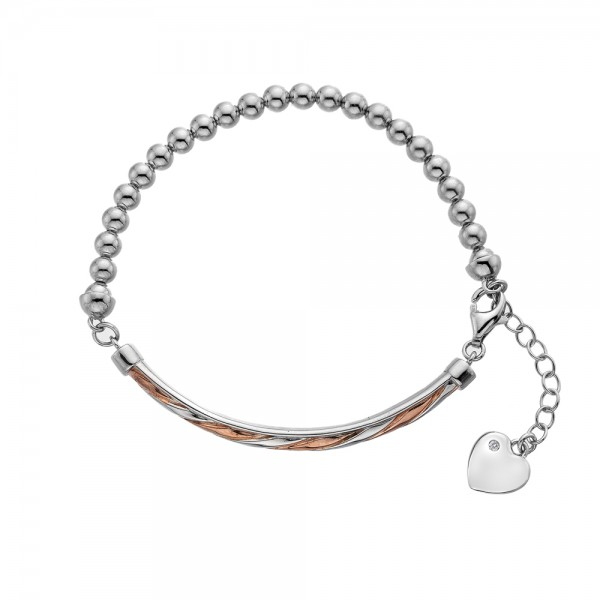 Hot Diamonds Breeze Bracelet - Rose Gold Plated Accents