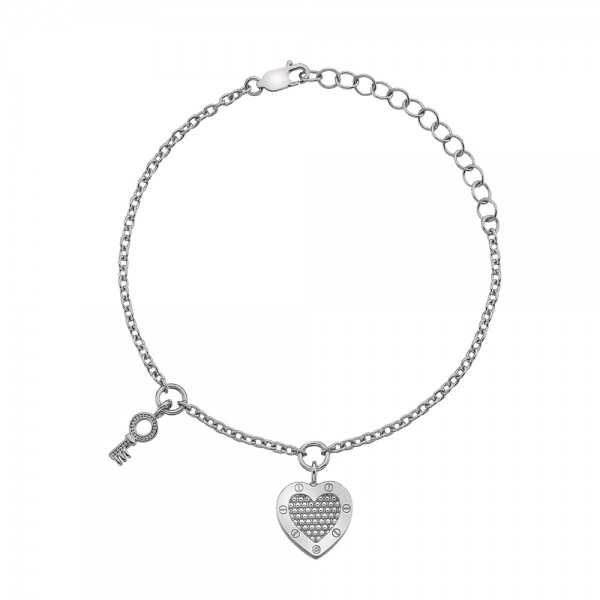 Hot Diamonds Lock in Love Bracelet