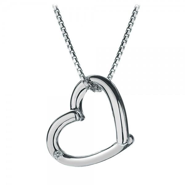 Hot Diamonds Sterling Silver Open Heart Pendant