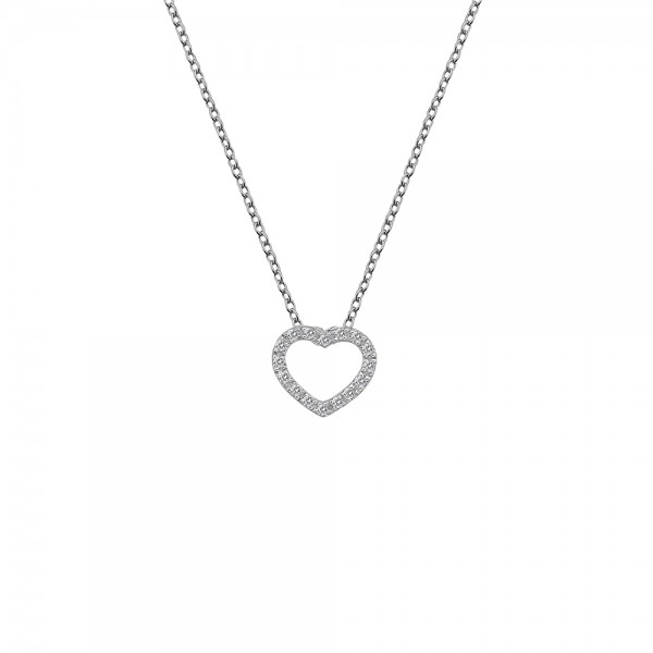 Hot Diamonds Bliss Open Heart Necklace