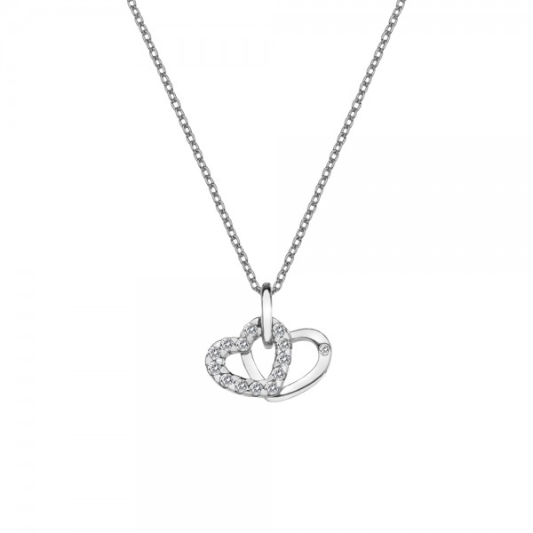 Hot diamonds sterling silver double heart pendant jewellery hot diamonds sterling silver double heart pendant aloadofball Gallery