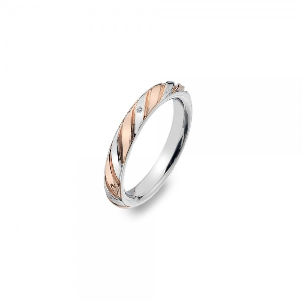 Hot Diamonds Breeze Rose Gold Plated Ring