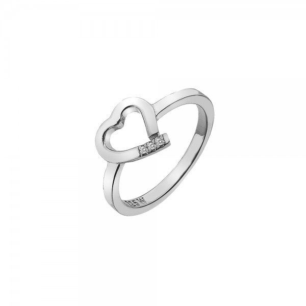 Hot Diamonds Sterling Silver Heart Ring