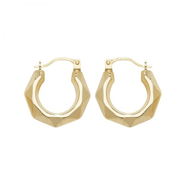 9ct Gold Small 10mm Creole Earrings
