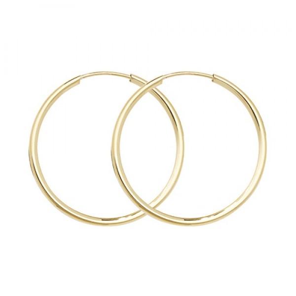 9ct Gold 22mm Sleeper Earrings