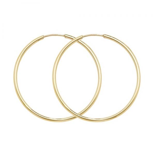 9ct Gold 27mm Sleeper Hoop Earrings