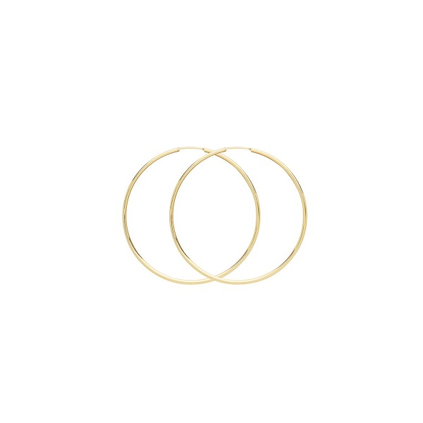 9ct Gold 35mm Sleeper Hoop Earrings