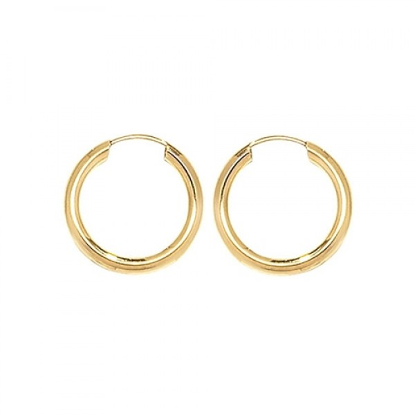 9ct Gold 10mm Sleeper Earrings