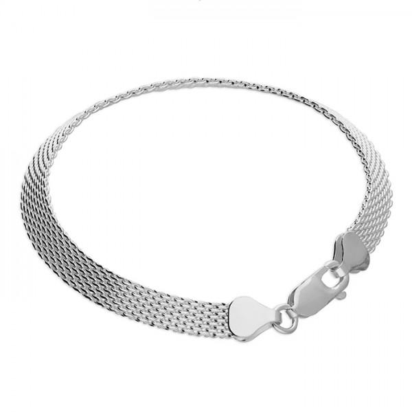 Sterling Silver Flat Mesh Bracelet