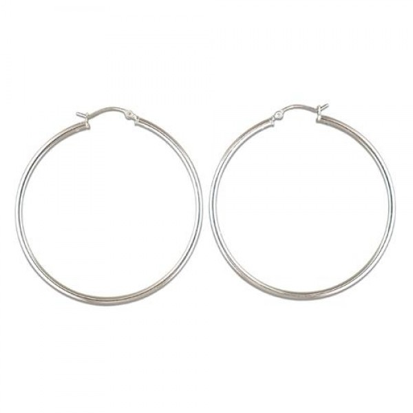 Sterling Silver 50mm Creole Hoop Earrings
