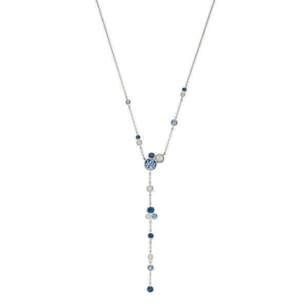Sterling Silver Blue & Opal Swarovski Crystal Necklace