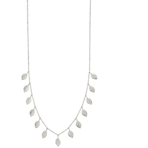 Sterling Silver Multi Leaf Necklace