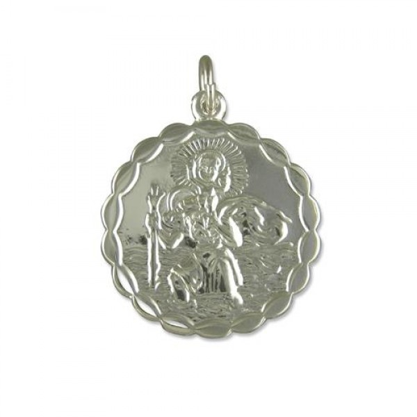 Oval sterling silver st christopher pendant 18 chain sterling silver st christopher pendant 18 mozeypictures Choice Image