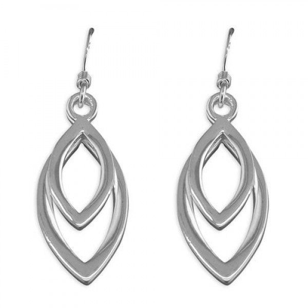 Sterling Silver Marquis Drop Earrings