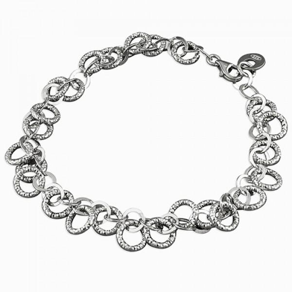Sterling Silver Open Circles Bracelet