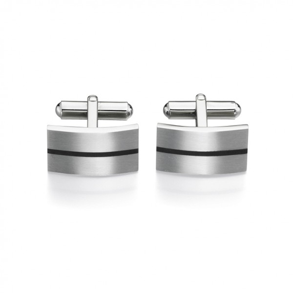 Fred Bennett Men's Stainless Steel & Enamel Cufflinks